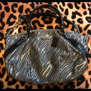 Coach Zebra Handbag